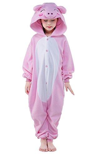 Newcosplay Unisex Children Pig Pyjamas Halloween Kids Onesie Costume 115