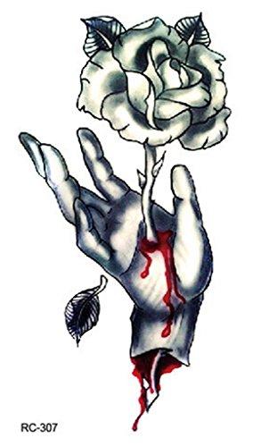 Bigood 5pcs Adult Halloween Accessory Bloody Wound Scar Tattoos 10560mm Rose