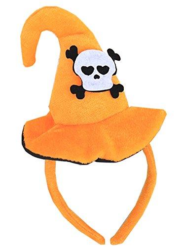 Qingsun Halloween Cute Hat Headband Headband Hoop Pumpkin Bat Hat Adult Halloween Hairband 1