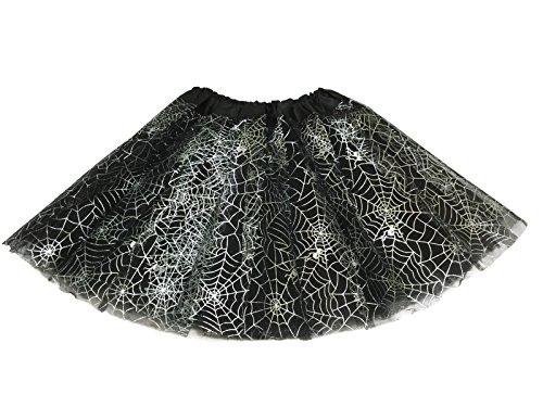 Rush Dance Ballerina Recital Halloween Black Silver Spider Webs Costume Tutu