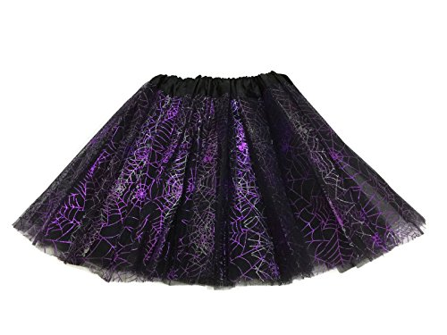 Rush Dance Ballerina Recital Halloween Purple Black Spider Webs Costume Tutu