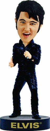 Elvis Bobblehead Black Leather 68 Comeback Special