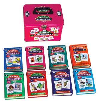 Set of 8 Webber Illustrated Phonology Cards Fun Decks - Super Duper Educational Learning Toy for Kids