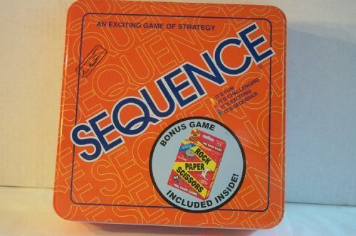 Sequence Tin Board Game 2005 with BONUS GAME