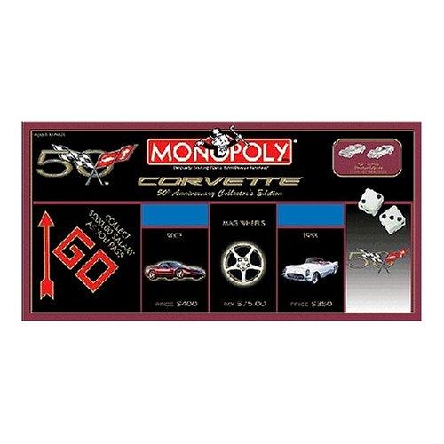 USAopoly Corvette 50th Anniversary Collectors Edition Monopoly Board Game
