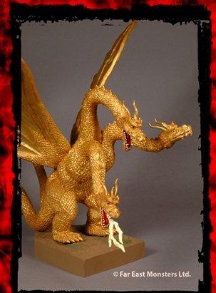 Godzilla Destroy All Monsters King Ghidorah Battlezone statue