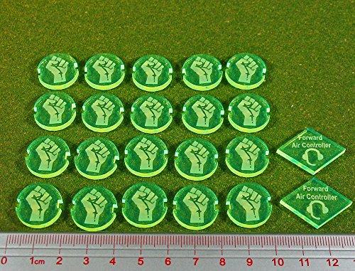 Dropzone Underground Faction Battle Group Tokens Fluorescent Green22