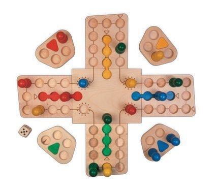 Fagus Wooden Ludo Family Fun Board Game Basic Game