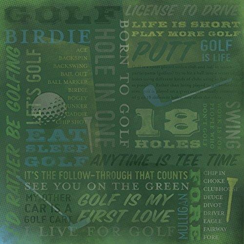 Karen Foster 64993 25 Sheets Golf Is Life Collage Scrapbooking Supplies