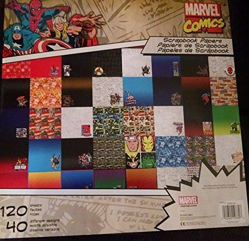Marvel Comics Scrapbooking Paper Stack 120 Sheets