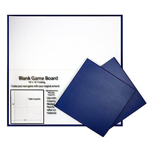 3 Pack Blank Folding Game Board Gameboard Measures 18 x 18