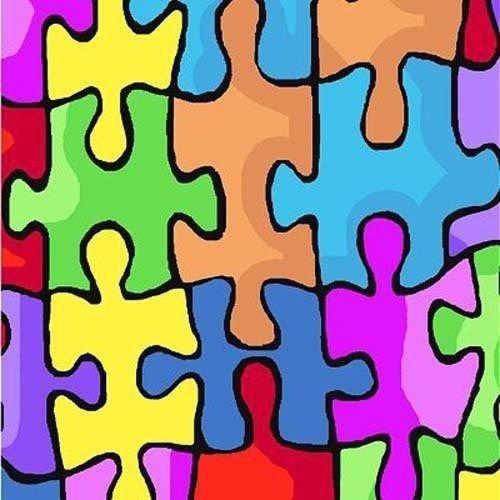 Fleece Jigsaw Puzzle Board Games Kids Fleece Fabric Print by the yard k23973b