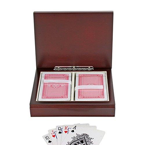 Bridge Card Game Box in Rosewood Finish