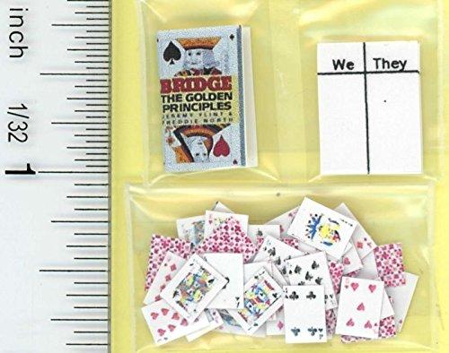 Dollhouse Minaiture Bridge Card Game Set by Jacquelines Miniatures
