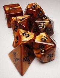 Koplow RPG Dice Sets BronzeBlack Olympic Polyhedral 7-Die Set