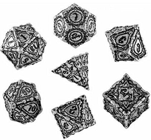 Q-Workshop Metal Pathfinder Polyhedral Dice Set