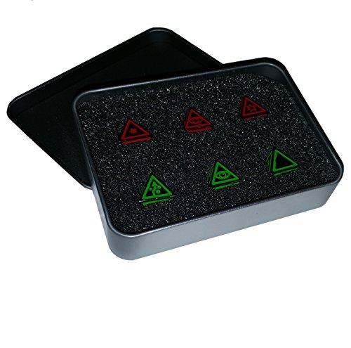 Star Wing Metal Dice Set 33  Metal Case - Sinister Chrome