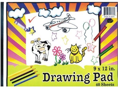 Drawing sketch Pad - 40 sheets - 9 x 12 48 pcs sku 1281355MA