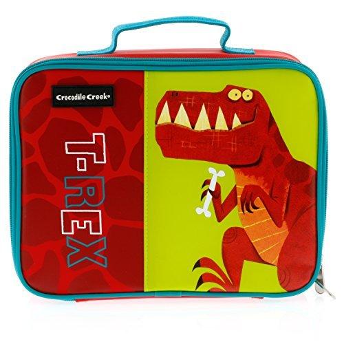 Crocodile Creek Eco Kids Dinosaur T-Rex Insulated Boys Lunchbox with Handle 10 by Crocodile Creek