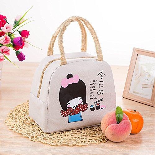 YeJia Fashion Japanese Girl Lunch Box For Women Girls Beige