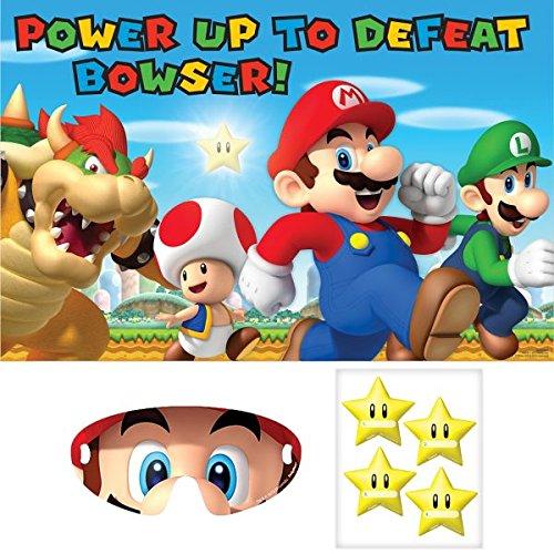 Amscan Boys Super Mario Brothers Birthday Party Game 3 Piece Multicolor 37 12 x 24 12