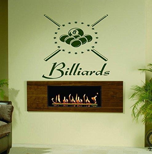 Sports Billiards Pool Ball Pool Table Cue Man Triangle Kids Room Children Stylish Wall Art Sticker Decal G8776