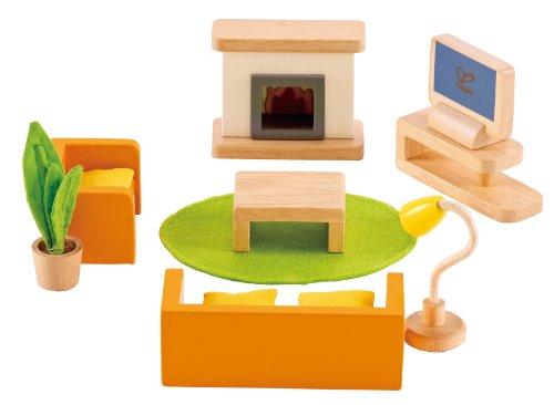 Hape - Media Room Wooden Doll House Furniture