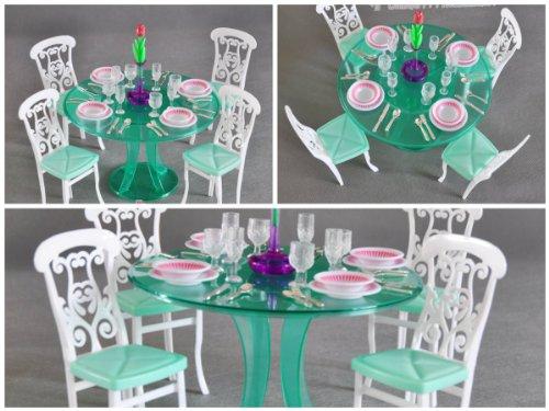 gloria Barbie Size Dollhouse Furniture Dining Room Green