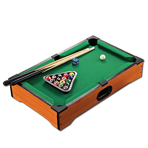 DEPRQ Mini Tabletop Pool Set Mini Pool Table Desktop Miniature Pool Table Set Tabletop Toy Gaming Pool-Billiard Table Balls Cues and Rack Pool Family Playing for Adults Kids Tabletop Pool