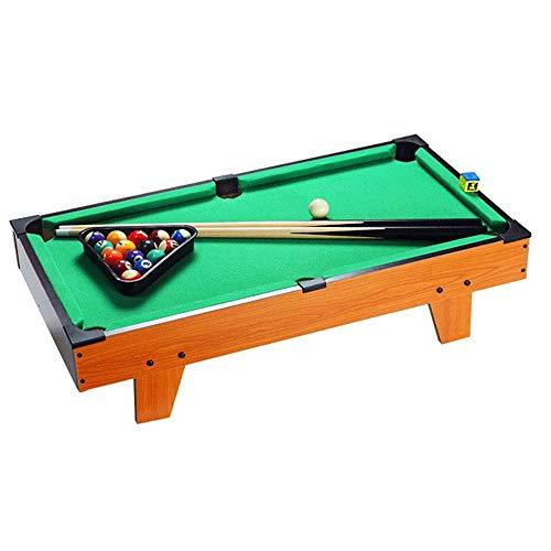 Ybriefbag-Sports Tabletop Billiards Table Top Miniature Billiard for Adults Kids Desktop Miniature Pool Table Tabletop Toy Gaming Pool-Billiard Table Balls Cues and Rack Pool