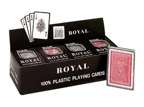 Royal - 100 Plastic Poker Size Playing Cards 3 12 x 2 12 1 Dozen