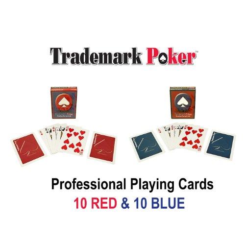 Trademark 20 Decks Of Trademark Poker Playing Cards