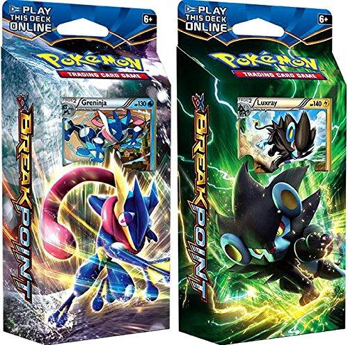 Pokemon XY XY9 Breakpoint - BOTH Theme Decks Greninja Luxray 120 cards
