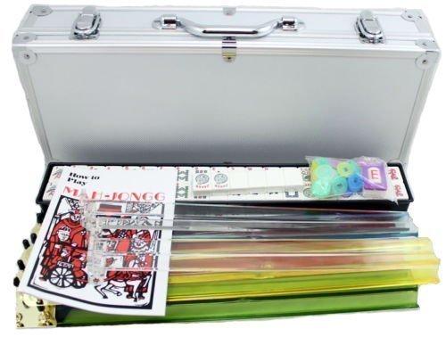 4 Pushers  Brand New Complete American Mahjong Set in Aluminum Case 166 Tilesmah Jong Mah Jongg Mahjongg