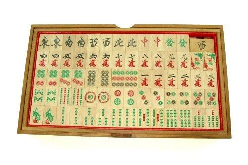 Handmade Wooden Chinese Mahjong Games Set