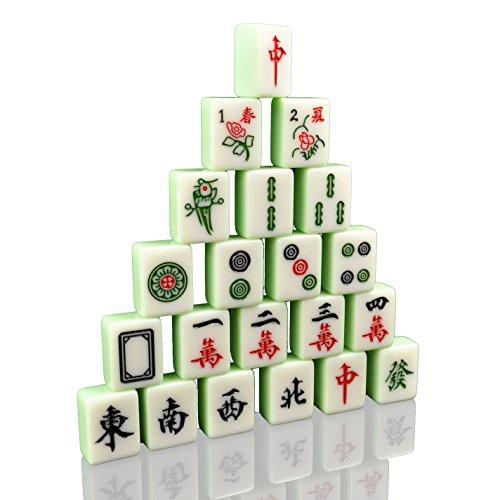 Maoershan Professional Chinese Mahjong Set Red Nylon Stitches BagLarge