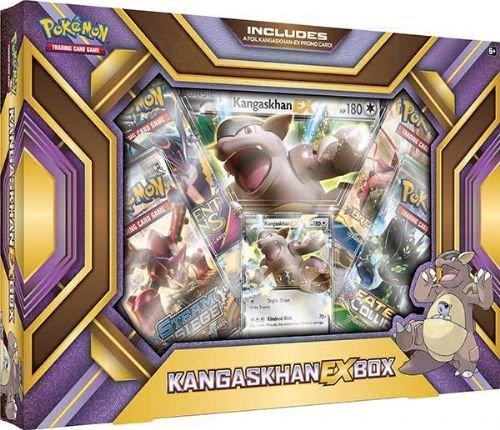 Pokemon TCG Card Game Kangashkan EX BOX - 4 Booster Packs