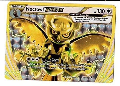 Pokemon TCG Card Game Noctowl Break Evolution XY136 Holo Foil Promo Card XY 136