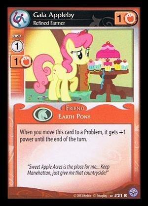 My Little Pony CCG - Gala Appleby Refined Farmer 21 - Premiere Edition