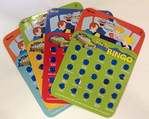 Travel Bingo Cards Car Road Trip Game Auto Bingo by Toysmith