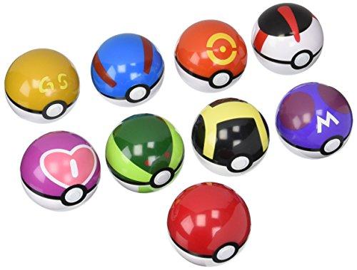 9 Pieces Plastic Super Anime Figures Balls for Pokemon Kids Toys Balls