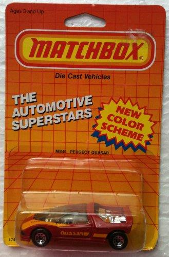 1987 Matchbox MB49 PEUGEOT QUASAR Automotive Superstars Series 164 Diecast Car
