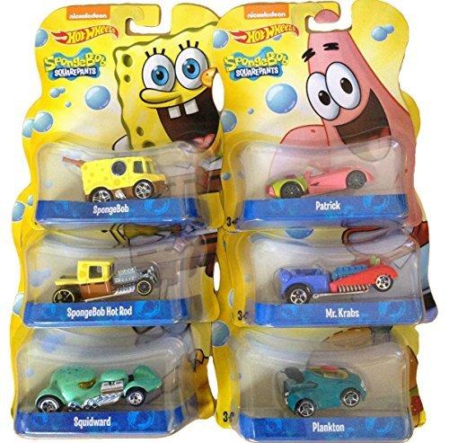 Hot Wheels Spongebob Squarepants Set of 6 164 Diecast Cars