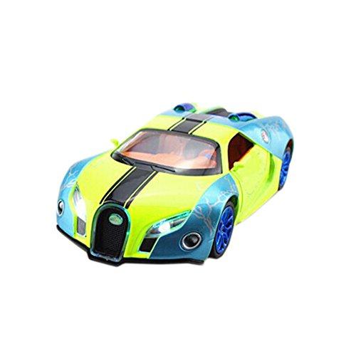 132 Diecast Car Model Bugatti Veyron Brand Car Model Pull Back CarGreen