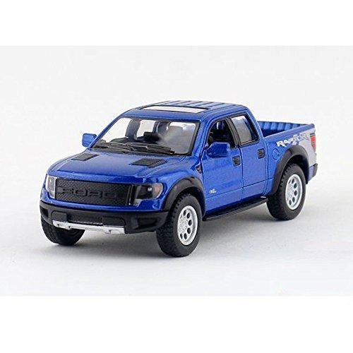Children Kinsmart 5 Ford F-150 SVT Raptor SuperCrew 1 46 Model Diecast Cars Toy Gift - Blue