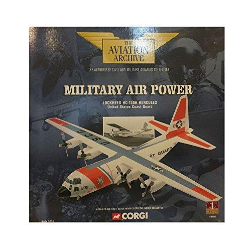 Corgi Military Air Power Lockheed HC-130H Hercules United States Coast Guard 1144 Scale Diecast Airplane Replica