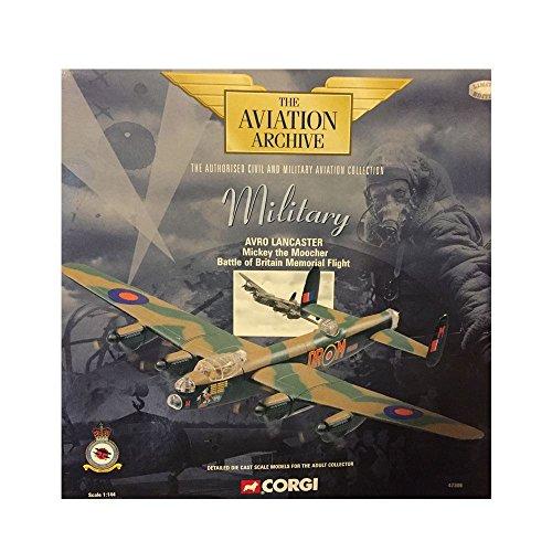 Corgi Military Avro Lancaster Mickey the Moocher Battle of Britain Memorial Flight 1144 Scale Diecast Airplane Replica