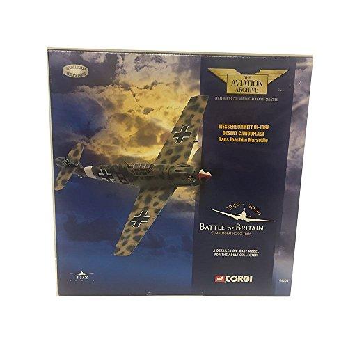 Corgi The Aviation Archive 49204 Messerschmitt Bf-109E Desert Camouflage Hans Joachim Marseille Battle of Britain 172 Scale Diecast Airplane Replica