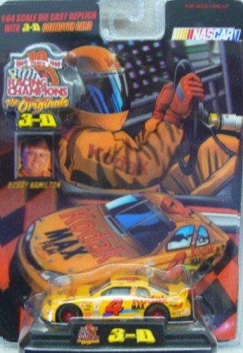 Racing Champions - The Originals 3-D - NASCAR - No 4 - Bobby Hamilton - Kodak Chevy Monte Carlo - 164 Scale Die Cast Replica Car