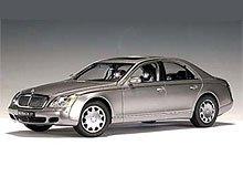 2003 Maybach 57 diecast model car 118 scale die cast by AUTOart - Himalaya Grey